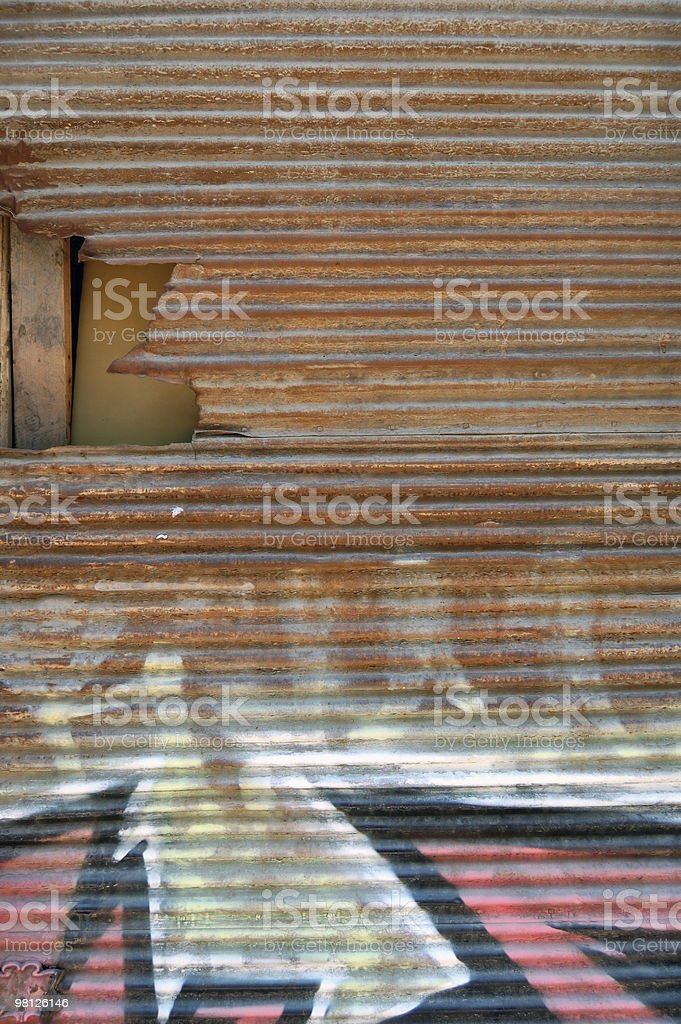 rusty shutter royalty-free stock photo