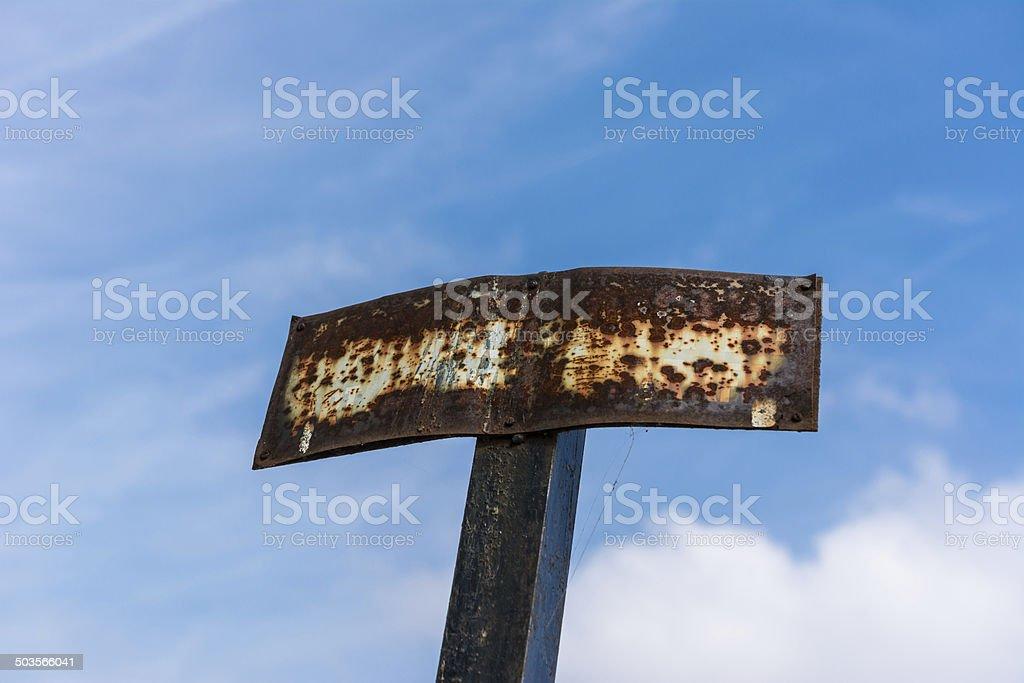 Rusty Sign stock photo