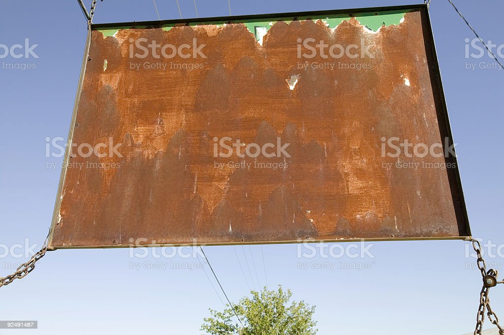 Rusty sign royalty-free stock photo