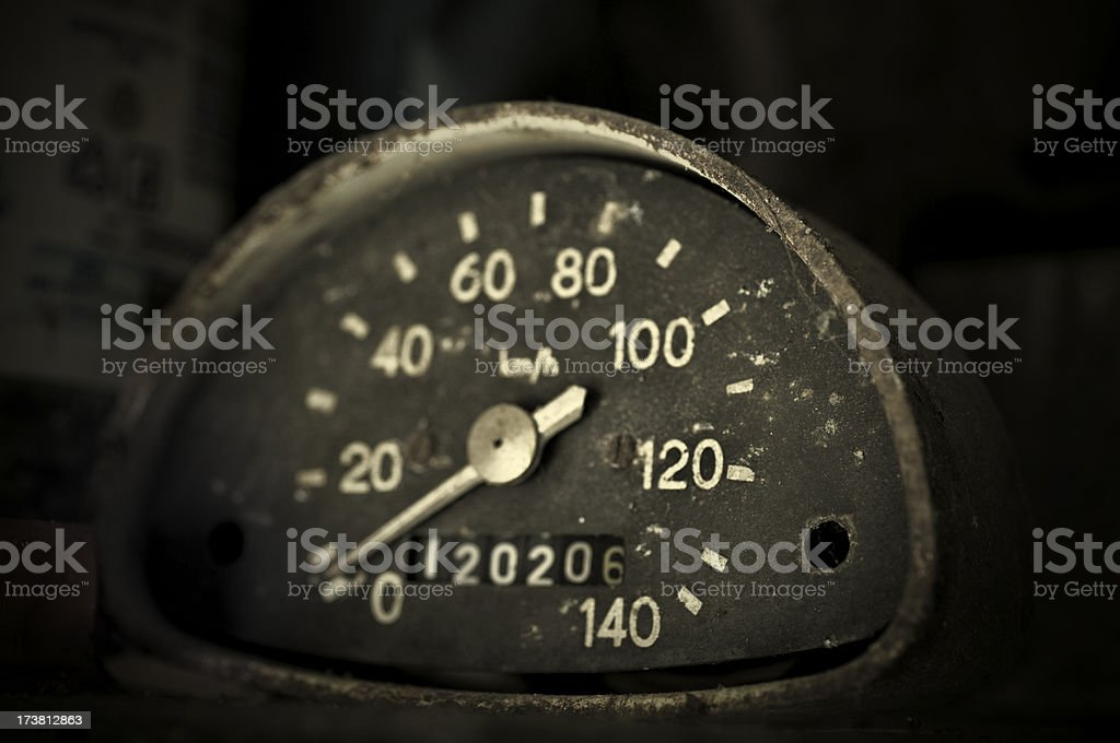 rusty speed meter royalty-free stock photo