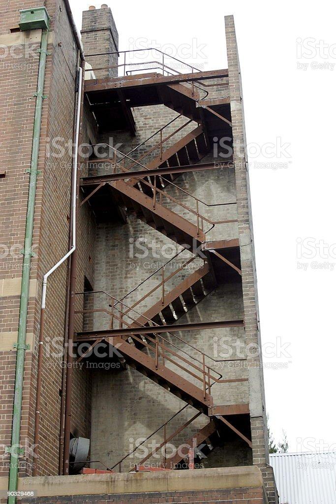Rusty Stairs stock photo