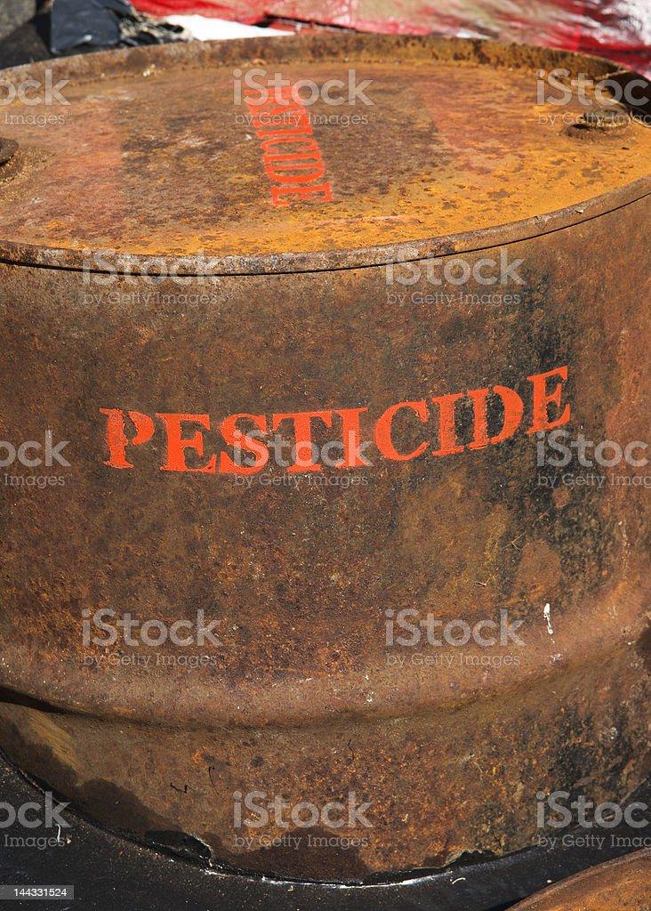 Rusty steel barrel royalty-free stock photo
