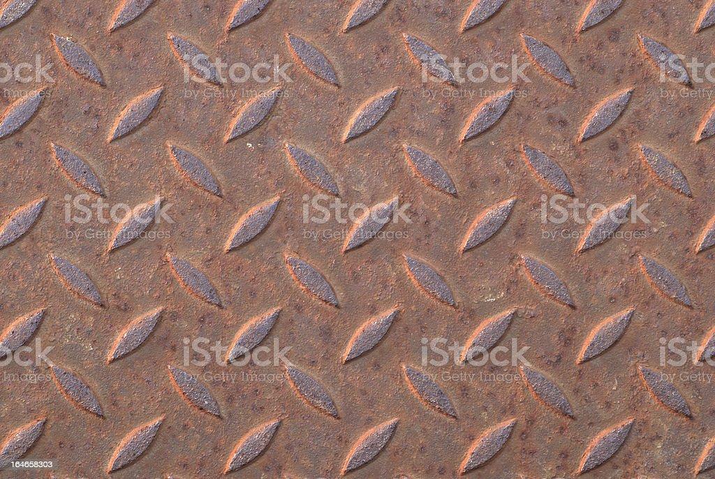 Rusty steel diamond plate royalty-free stock photo