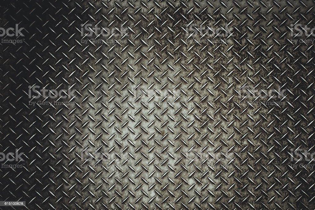 Rusty steel diamond plate texture stock photo