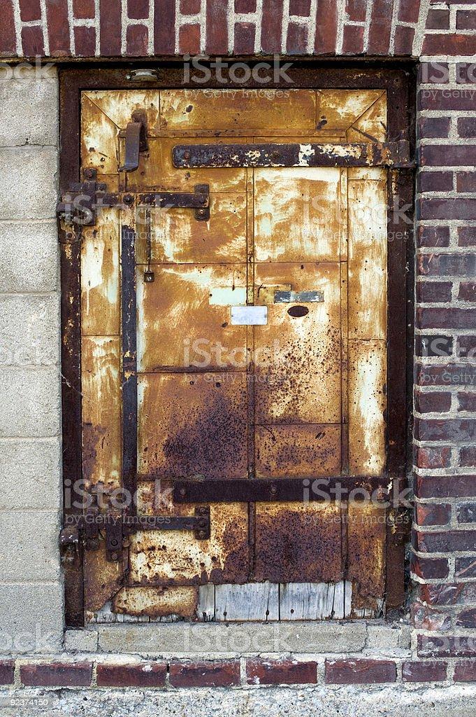Rusty Steel Door royalty-free stock photo