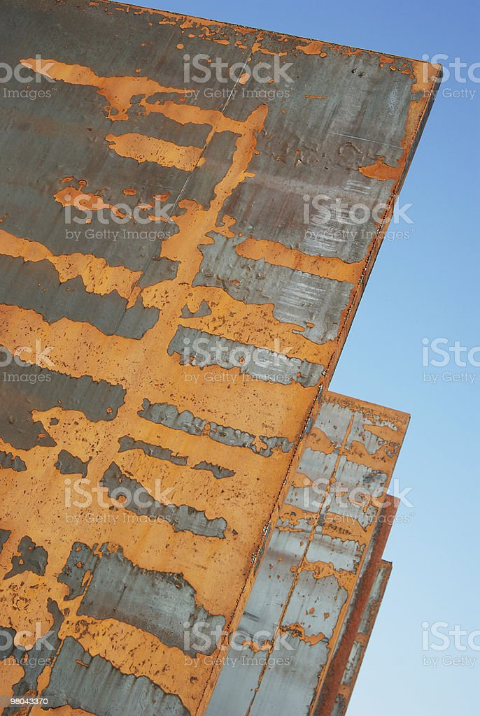 Rusty steel panels royalty-free stock photo