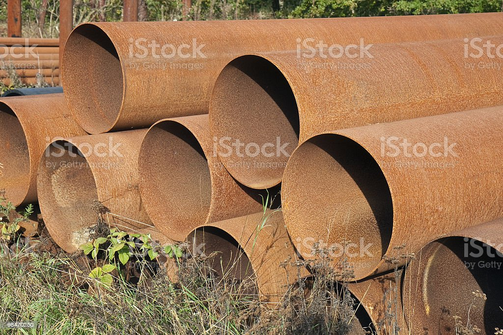 Rusty Steel Pipes royalty-free stock photo
