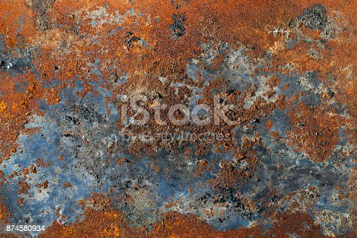 istock A rusty steel plate as background. 874580934