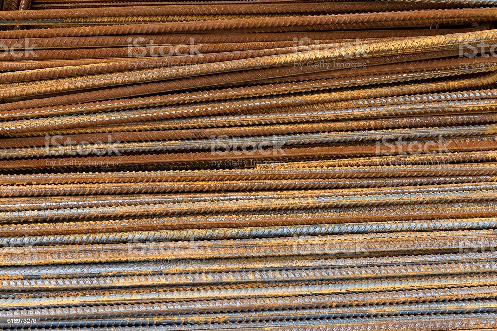 Rusty steel reinforcement bars – Foto