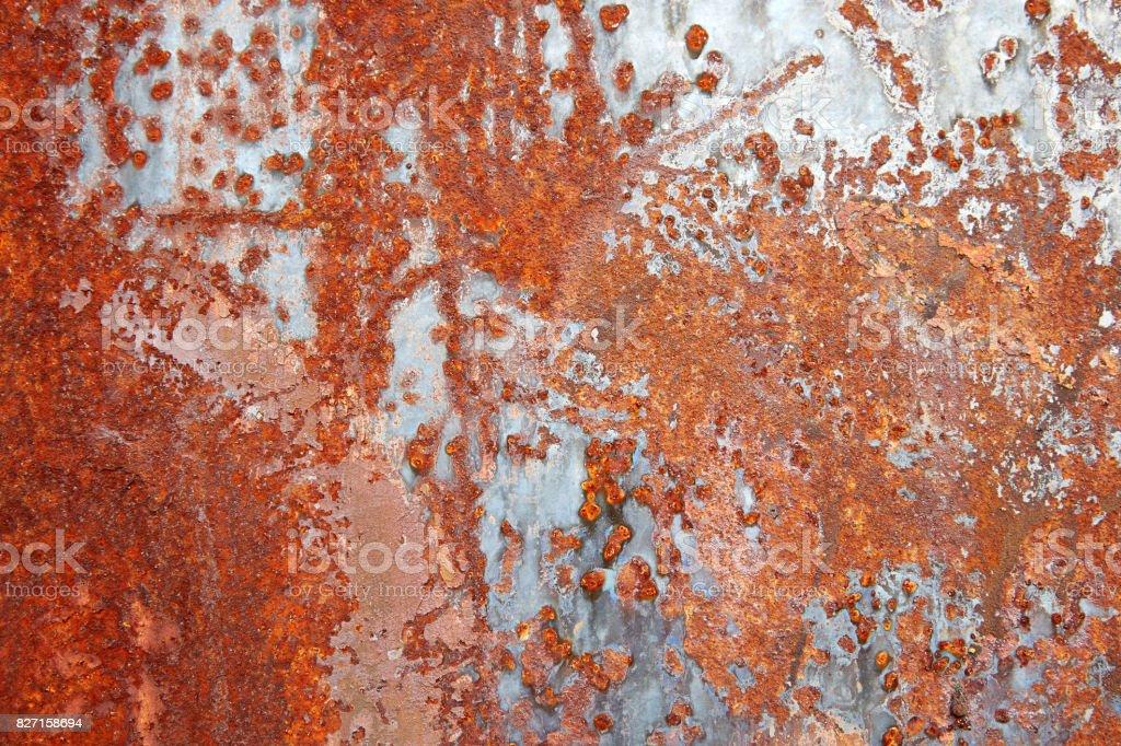 Rusty steel sheet stock photo