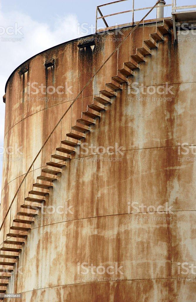 rusty storage tank royalty-free stock photo