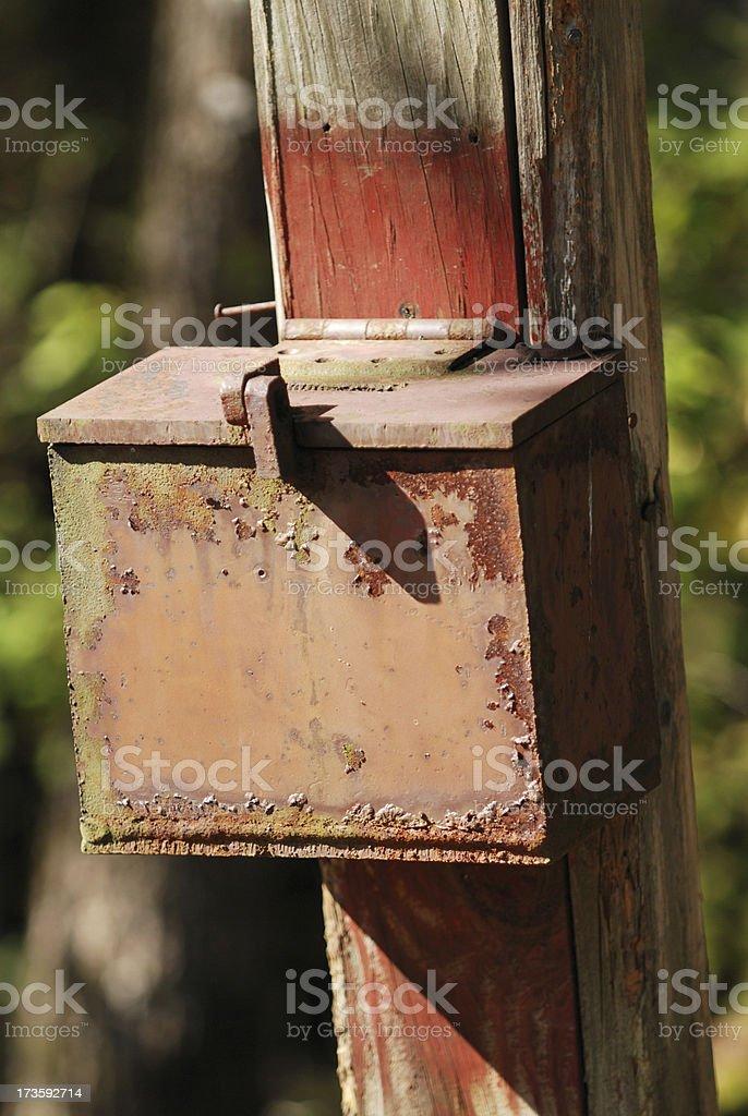 Rusty Suggestion Box royalty-free stock photo