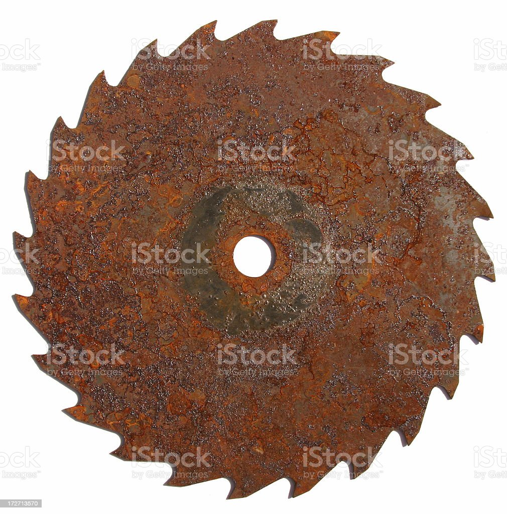 Rusty Table Saw Blade stock photo
