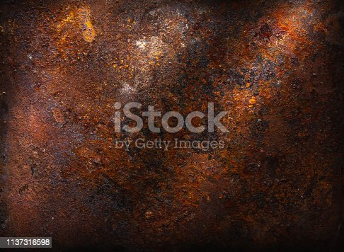 Bright rusty metallic background