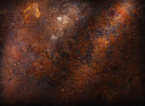 Bright rusty metallic background