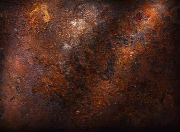 rusty textuur achtergrond - roestig stockfoto's en -beelden
