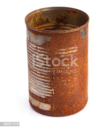rusty old food can