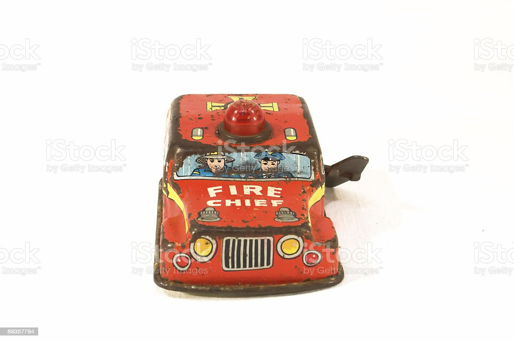 rusty tin toy royaltyfri bildbanksbilder