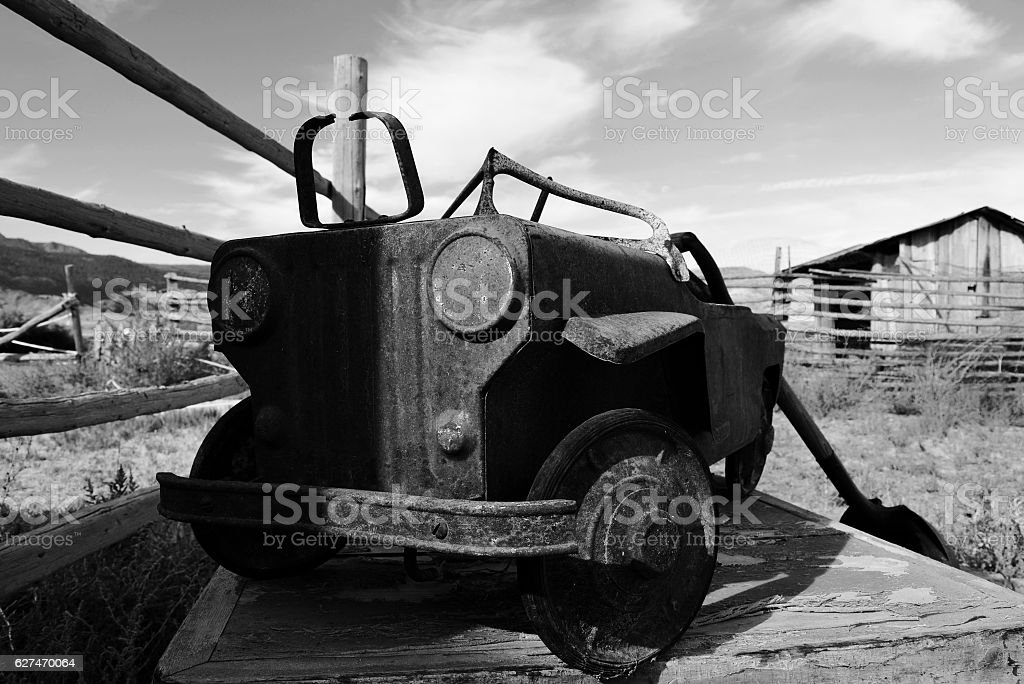 Rusty Toy Pedal Car stock photo