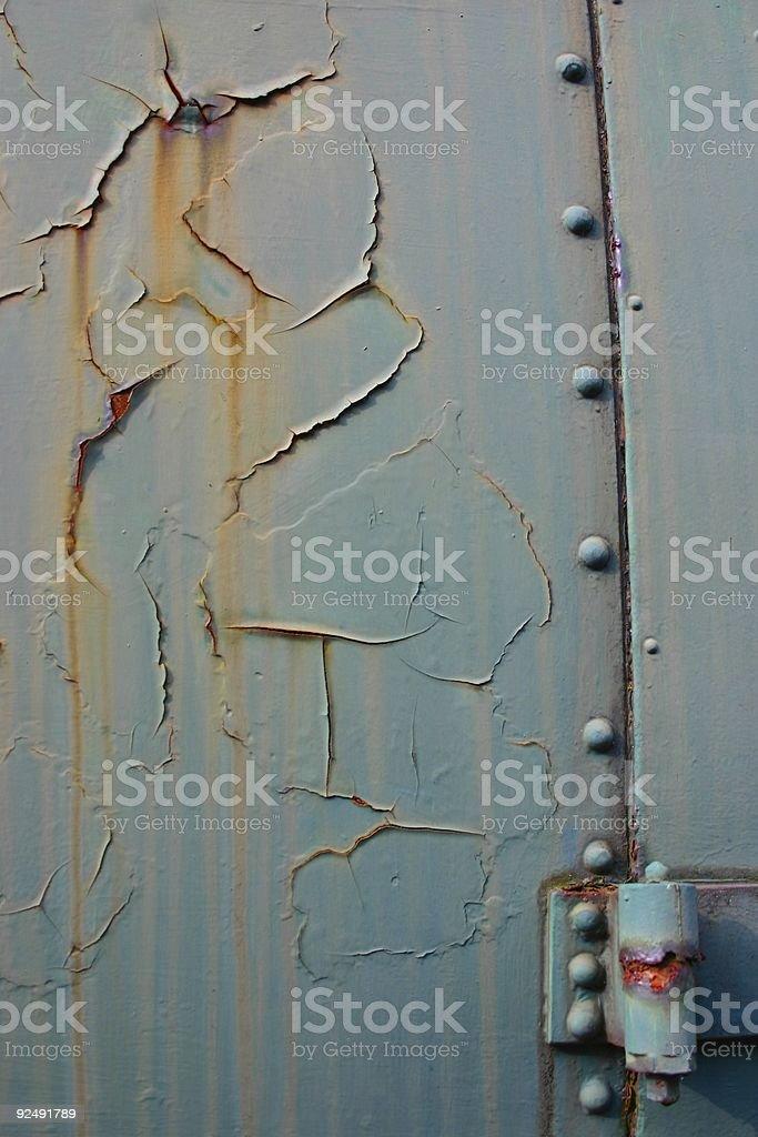 Rostige Eisenbahn Tür Lizenzfreies stock-foto