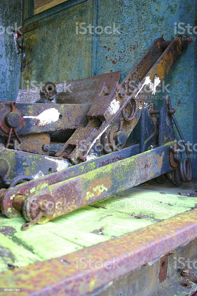 Rusty train royalty-free stock photo