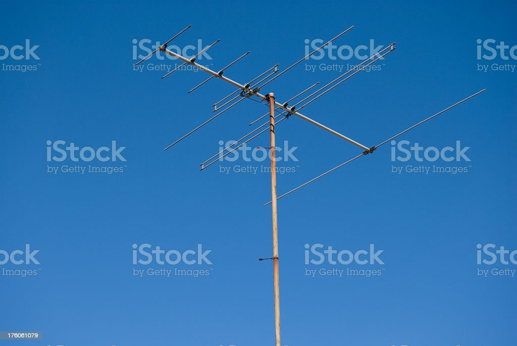 Rusty TV antenna royalty-free stock photo