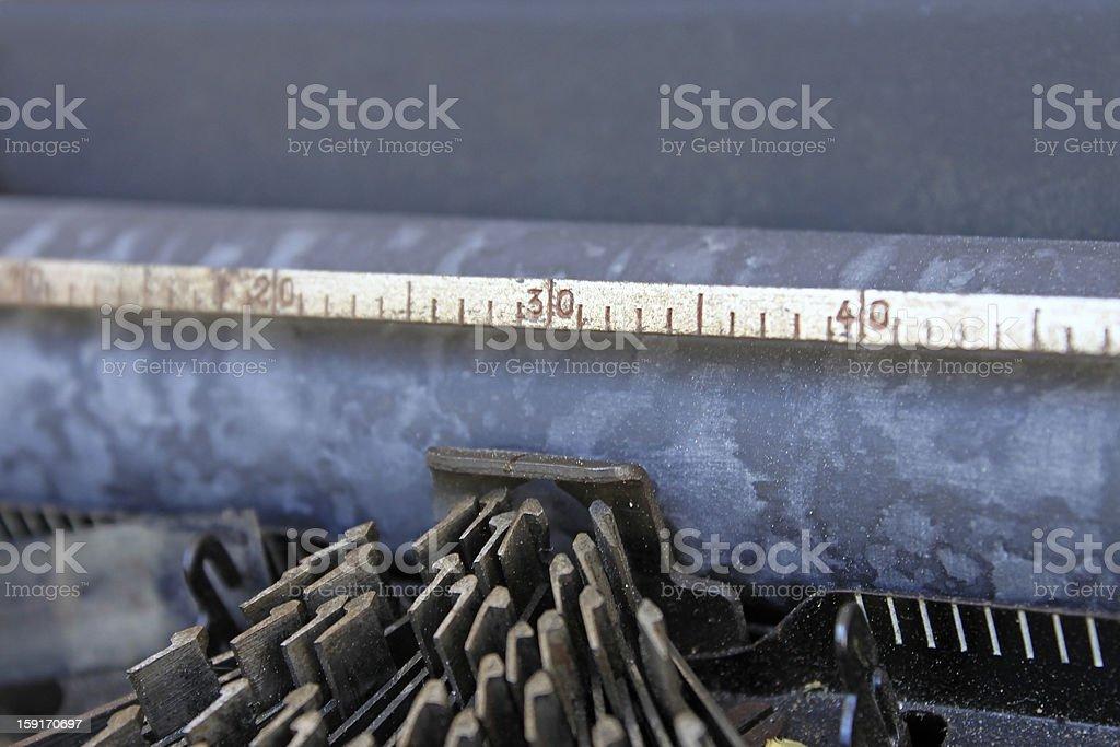 Rusty typewriter head royalty-free stock photo