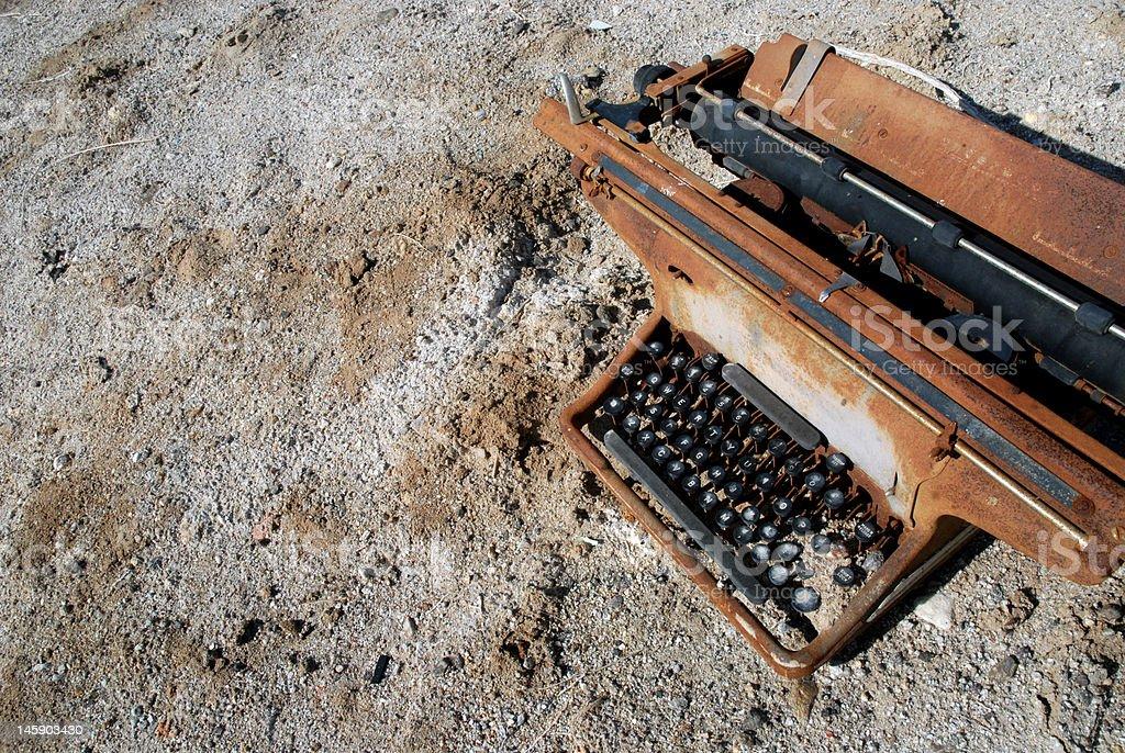 Rusty Typewriter royalty-free stock photo