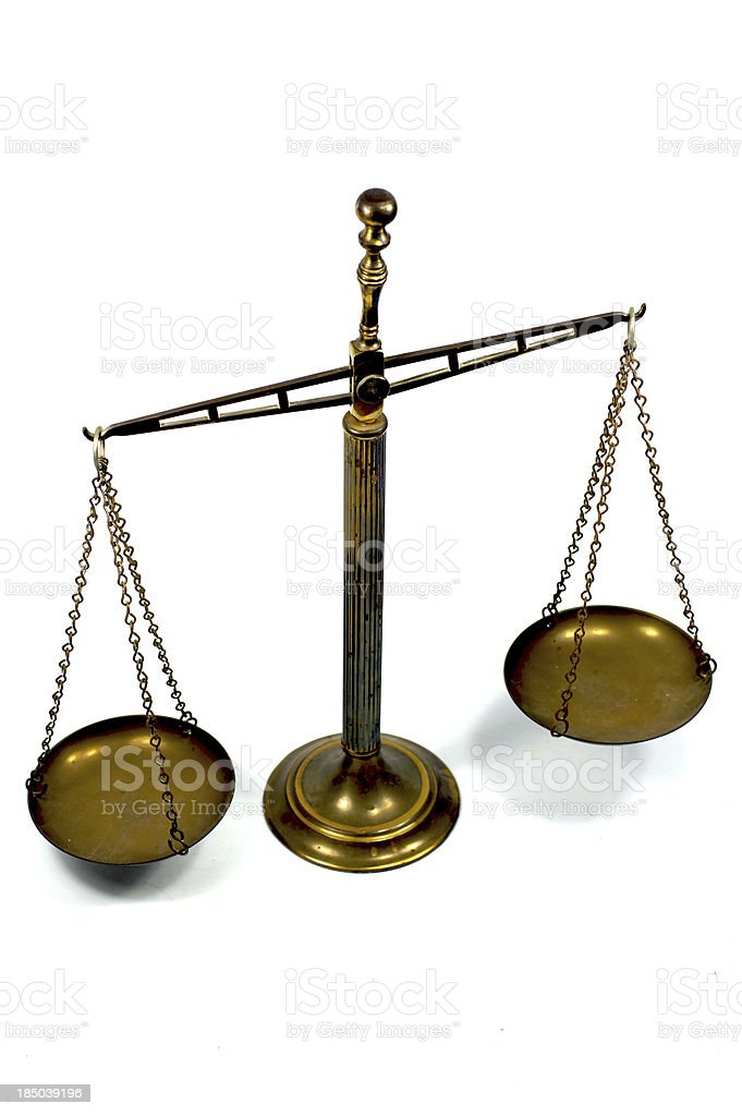 Rusty vintage scale royalty-free stock photo