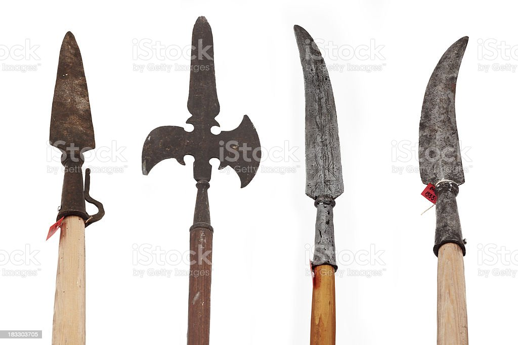 Rusty weapons stock photo