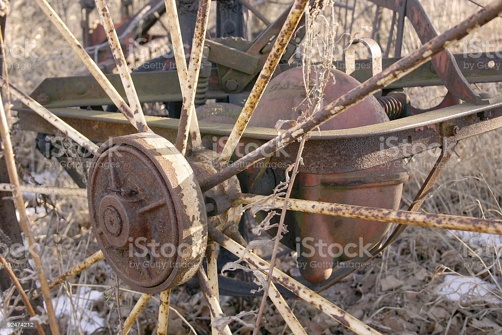 Rusty wheel royalty-free stock photo