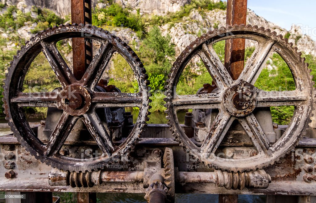 rusty wheels stock photo