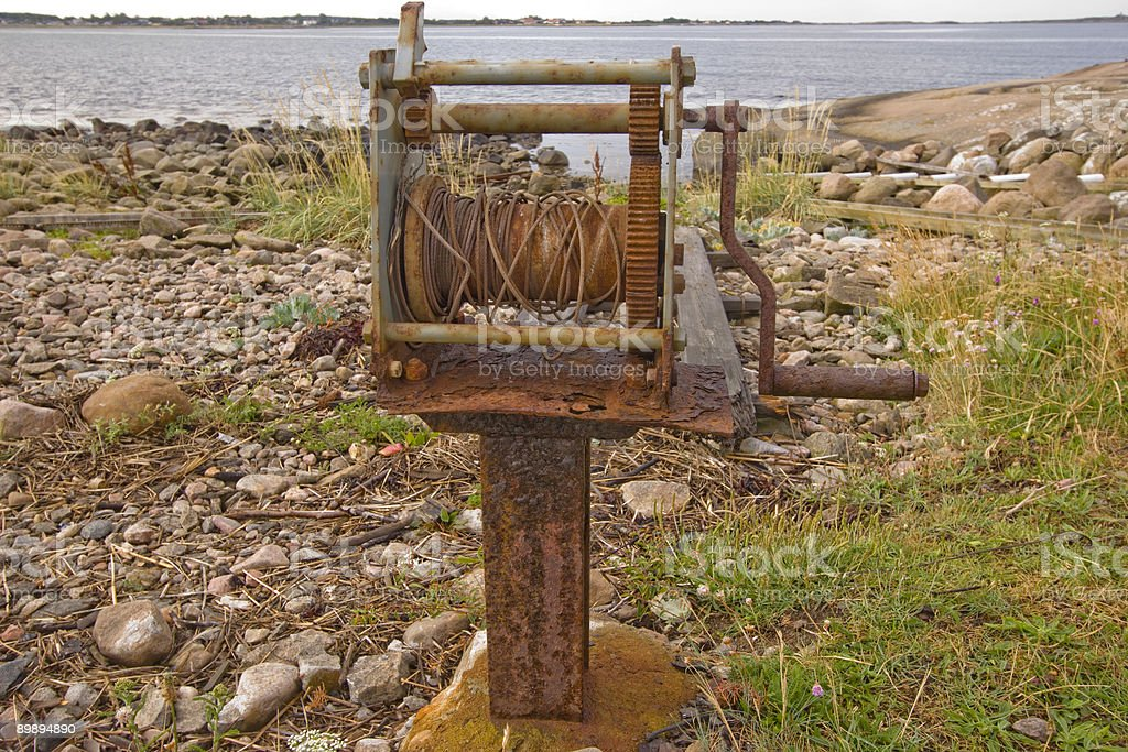 Rusty Winch royalty-free stock photo