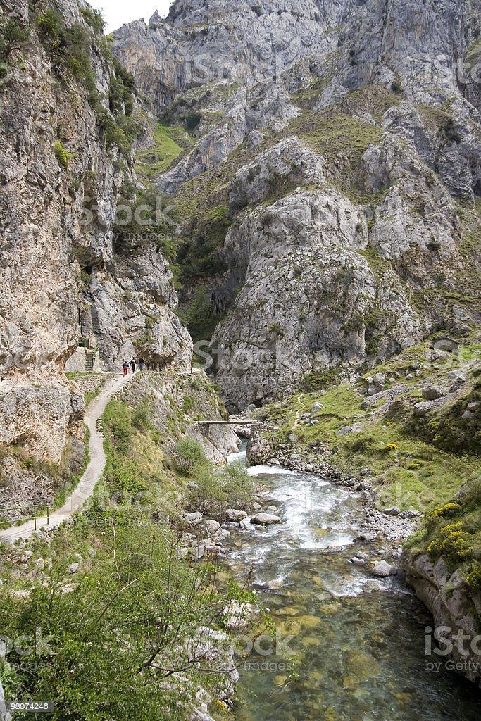 Ruta del Cares in Montagne dei Picos de Europe foto stock royalty-free