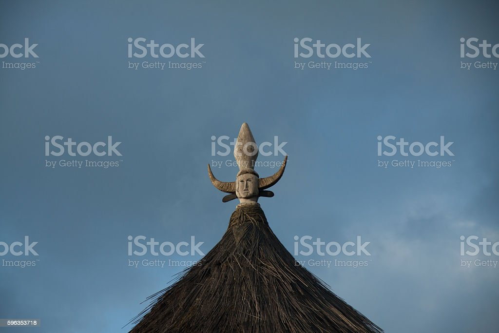Ruteng Puu tradtional village, houses typical for the Manggarai district royalty-free stock photo