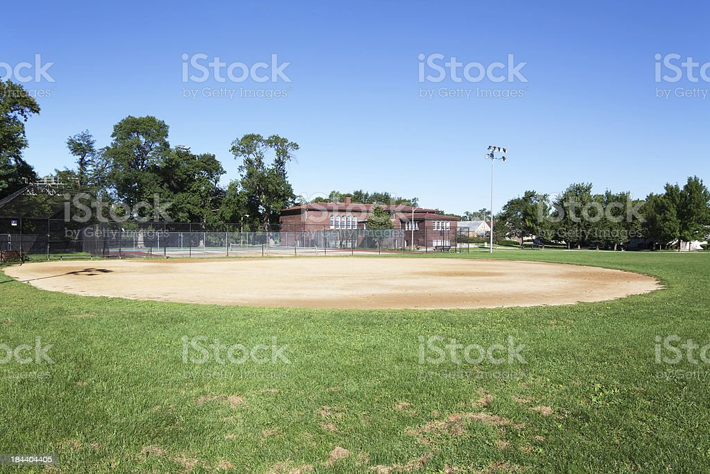 Rutherford Sayre Park in Montclare, Chicago royalty-free stock photo