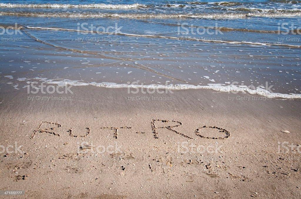 Rut-Ro in Sand stock photo