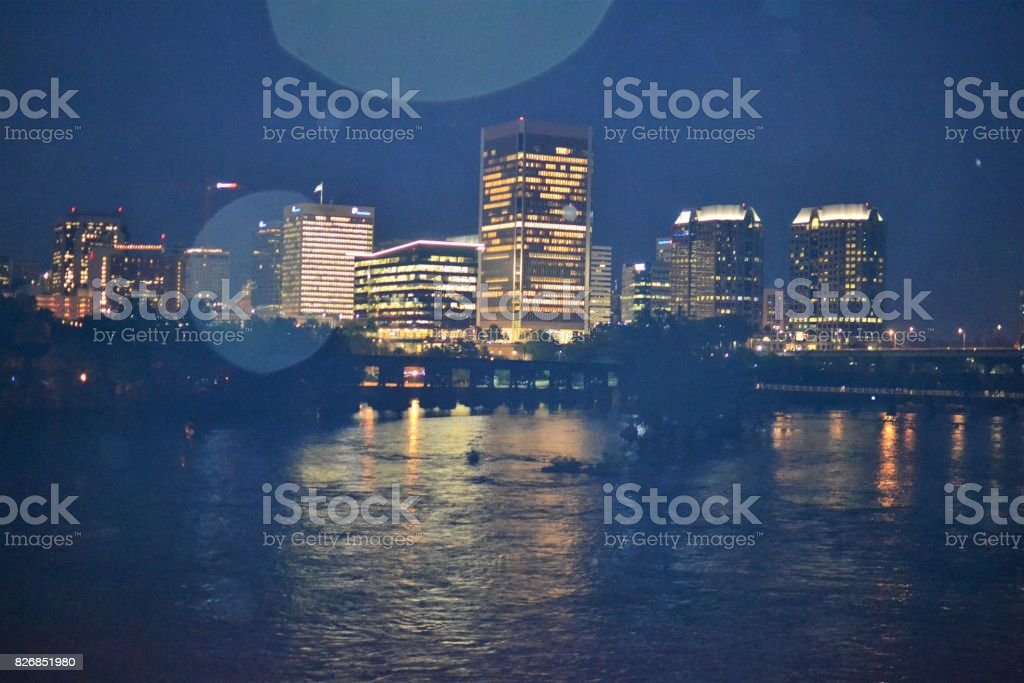 rva cityscape stock photo