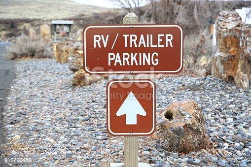 Rv/Trailer Parking Sign