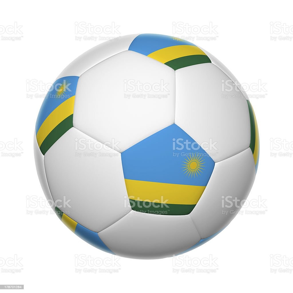 Rwanda soccer ball stock photo
