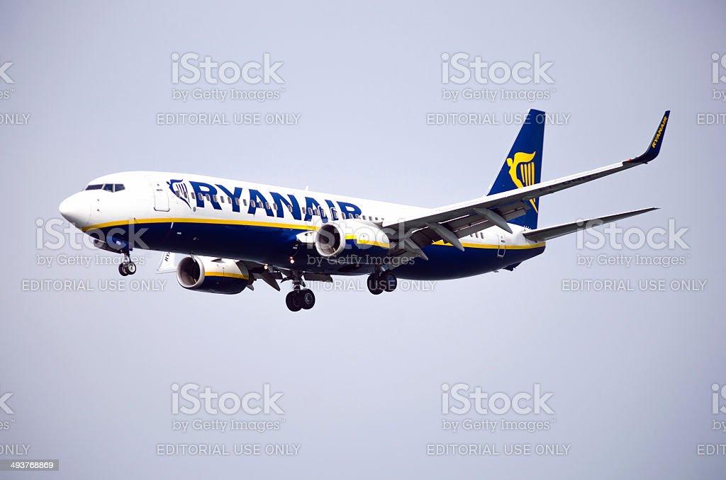 Ryanair airplane Boeing 737-800 stock photo