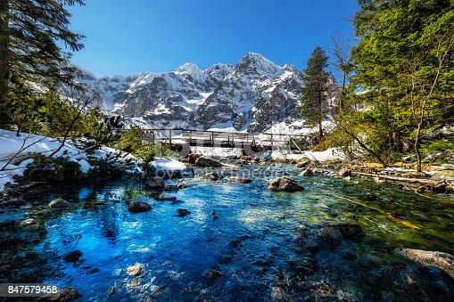 istock Rybi stream flowing out of the Morskie Oko lake, Tatra Mountains 847579458
