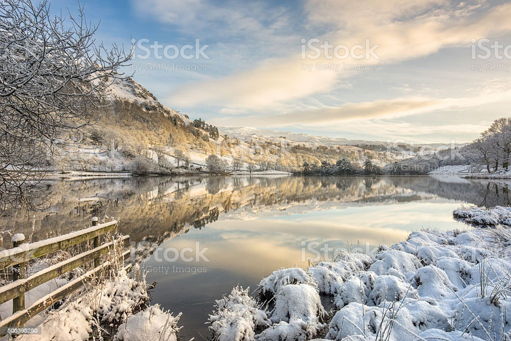 Rydal, Lake District in winter snow stock photo