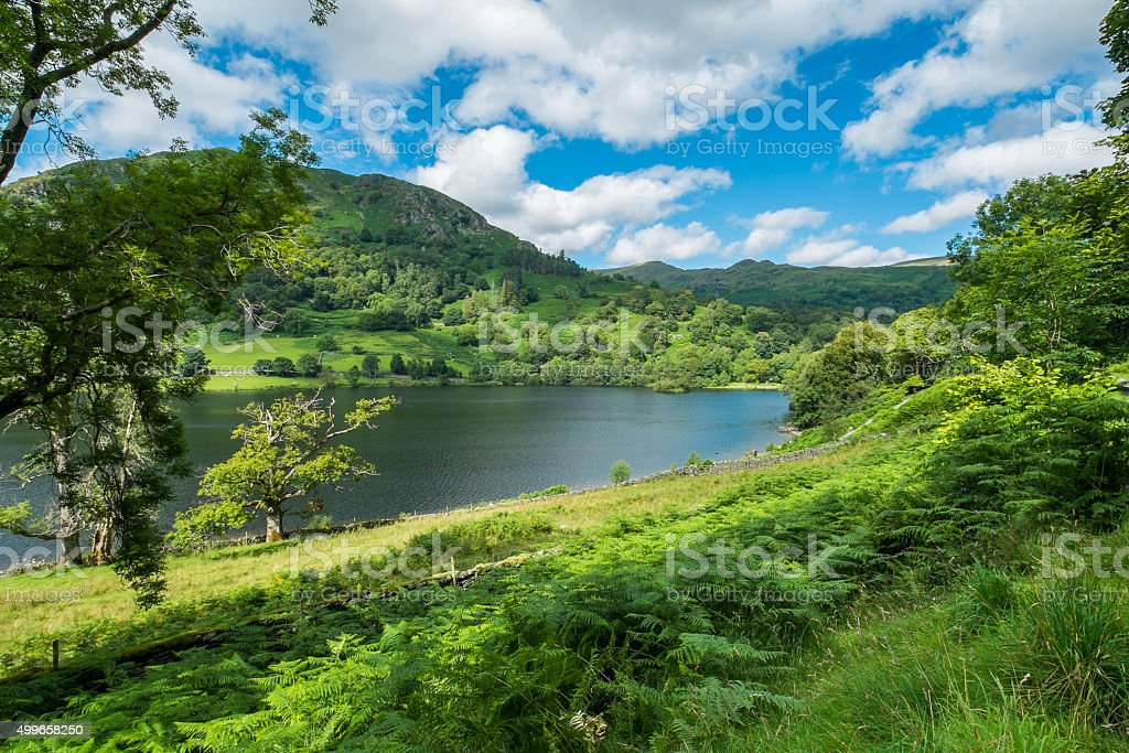 Rydal Water in the Lake District. stock photo
