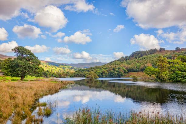 Rydal Water, Lake District National Park, Cumbria, England, UK stock photo