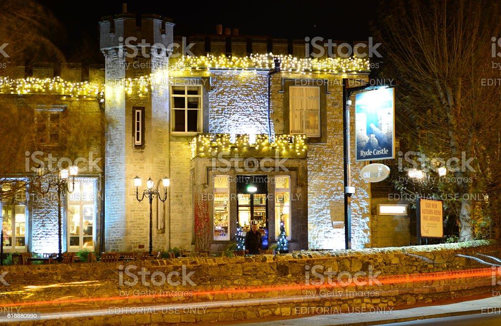 Ryde Castel Hotel Bar and Restaurant stock photo