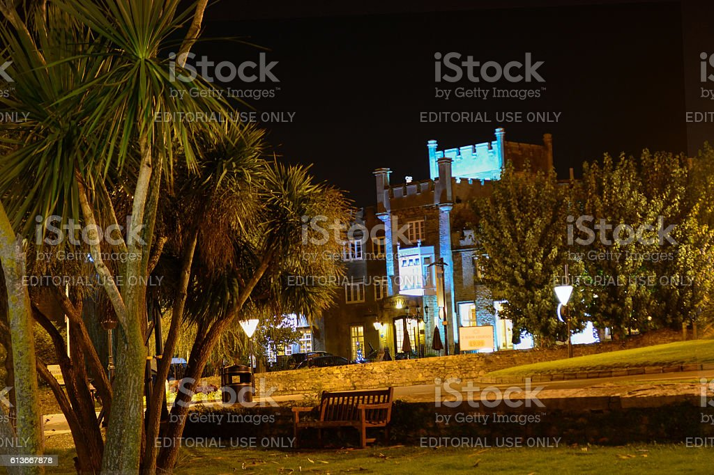 Ryde Castle at Night stock photo
