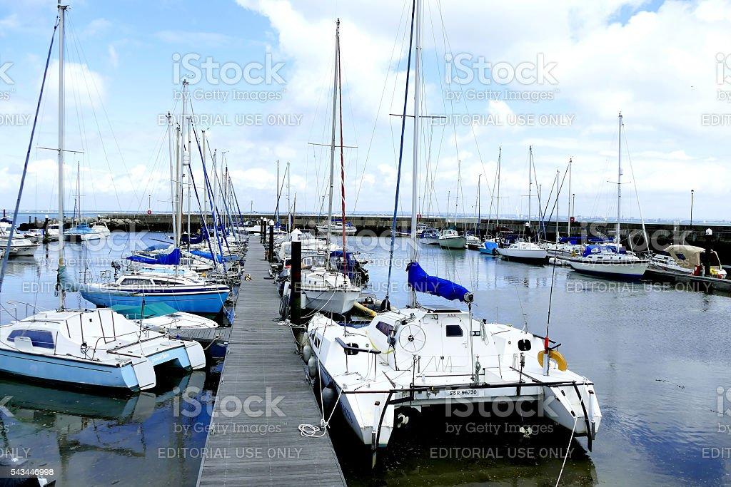 Ryde Harbor stock photo