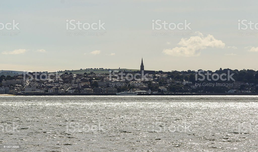 Ryde Isle of Wight Taken from Gosport stock photo