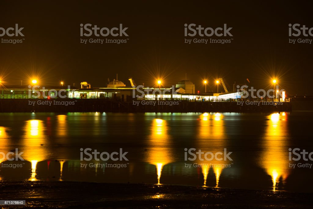 Ryde Pier Head Reflections stock photo